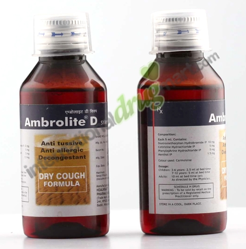 Ambrolite D Dry Cough Syrup