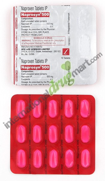 what is generic naprosyn 500mg prescription