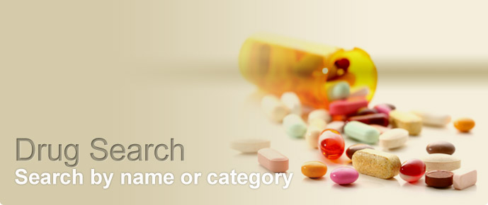 Search Drugs by Alphabets or Category