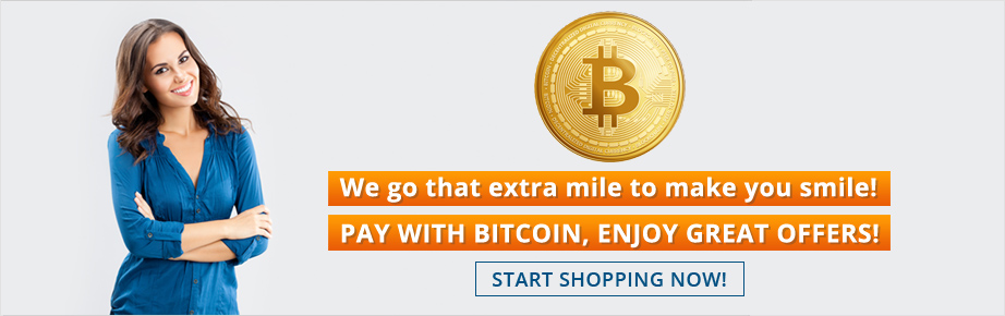 Pay with bitcoin, Enjoy great offers