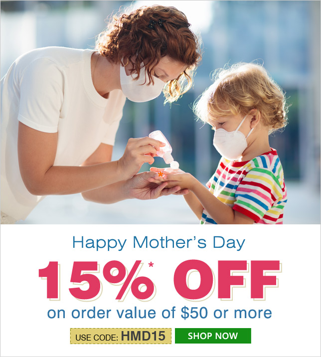 Apply Coupon HMD15 and get 15% OFF on orders of $50 & above