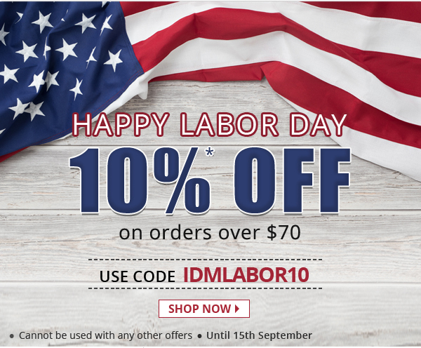 Apply Coupon IDMLABOR10 and get 10% off on all medications