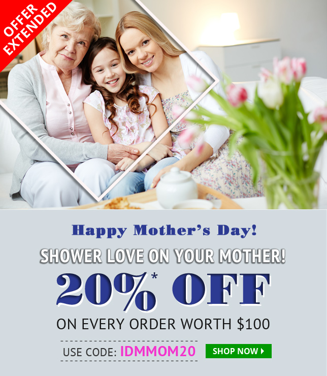 Apply Coupon IDMMOM20 and get 20% off on All medications