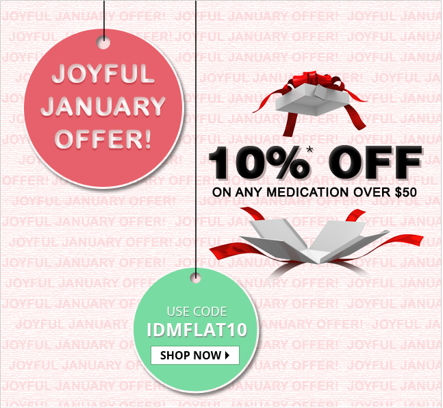 Apply Coupon IDMFLAT20 and get 10% off on all medications