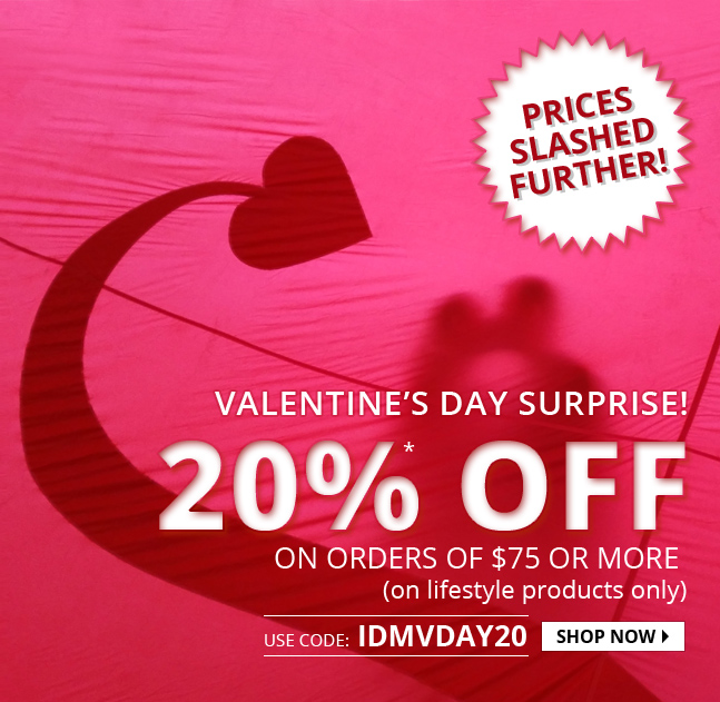 Apply Coupon IDMVDAY20 and get 20% off on Lifestyle Products.