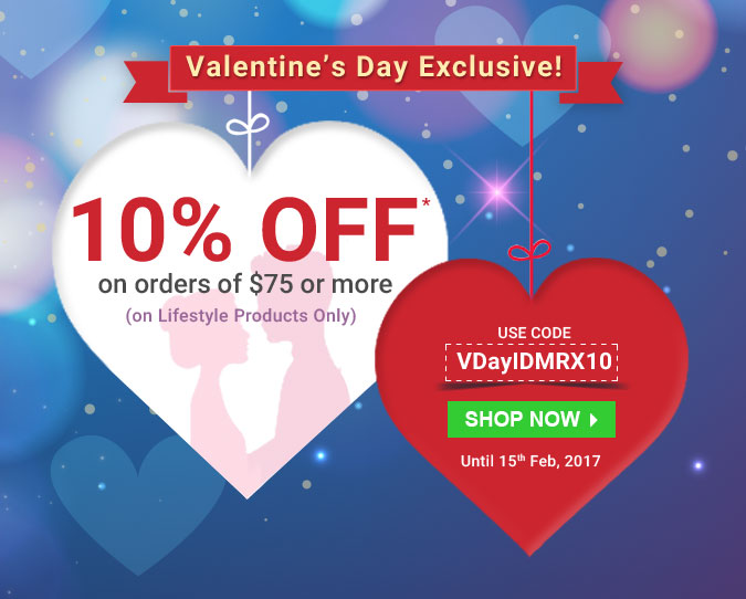 Apply Coupon VDAYIDMRX10 and get 10% off
