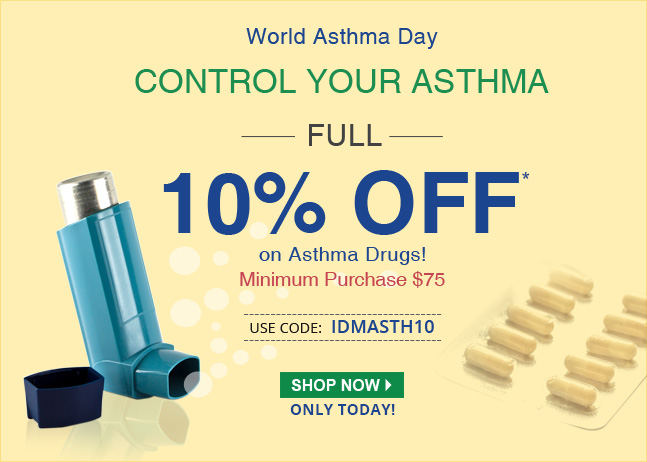 Apply Coupon  IDMASTH10 and get 10% off on Asthma Medications