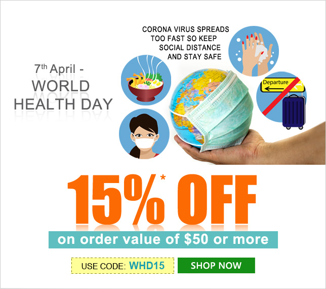 Apply Coupon WHD15 and get 15% OFF on orders of $50 & above
