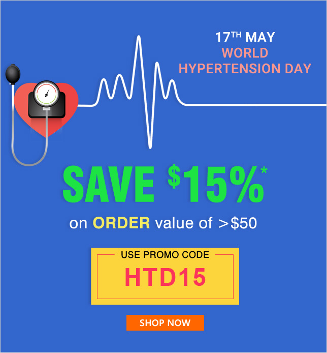 Apply Coupon HTD15 and get 15% OFF on orders of $50 & above