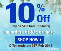 10% off on Skin care products.