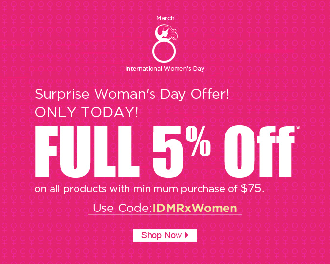 Apply Coupon IDMRxWomen and get 5% off